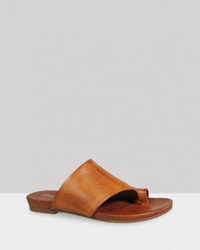 8e49294a2a5d Lang Coconut Leather Open Toe Flat Slide in 2018