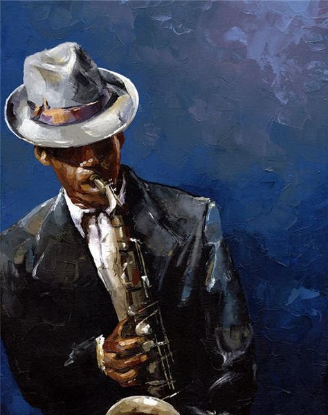 "................................................... sold . ""The Blues-II"" Oil on canvas 18""x24"" I painted this piece using palette knife..."