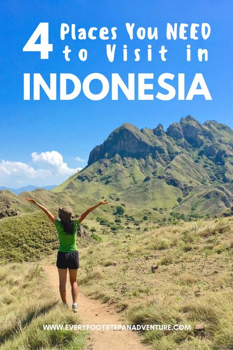 Planning a trip to Indonesia and wondering where to go? Here I share 4 amazing places you have to visit in Indonesia -- the country that stole my heart.