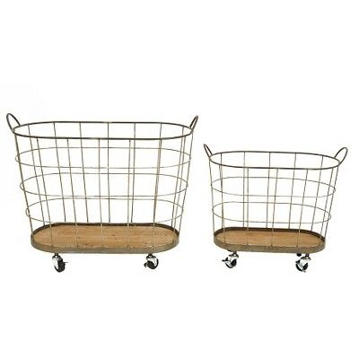 Find Product Information Ratings And Reviews For Metal Rolling Laundry Baskets S 2 30 1 2 L Online On Target Com Rolling Laundry Basket Vintage Laundry