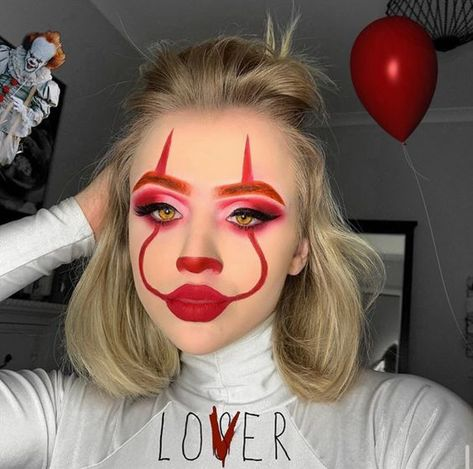 makeupbyayva halloween ecemella october spooky makeup ideas clown sexy this but try 64 to ig 64 Sexy But Spooky Halloween Makeup Ideas To Try This October Ecemella Clown Halloween Makeup Clown Halloween Makeup ig ayva Maquillage Halloween Clown, Halloween Makeup Clown, Halloween Nails, Halloween Makeup Tutorials, Cute Clown Costume, Amazing Halloween Makeup, Awesome Makeup, Spooky Halloween, Halloween Parties