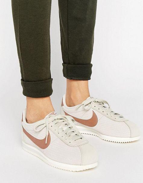Кожаные кроссовки с отделкой бронзового цвета Nike Classic Cortez ... 72dab587cf3