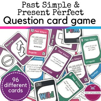 Esl Question Card Game Past Tense And Present Perfect