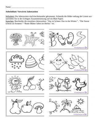 Arbeitsblatter Teddylingua Jahreszeiten Arbeitsblatt Arbeitsblatter Arbeitsblatter Zum Ausdrucken