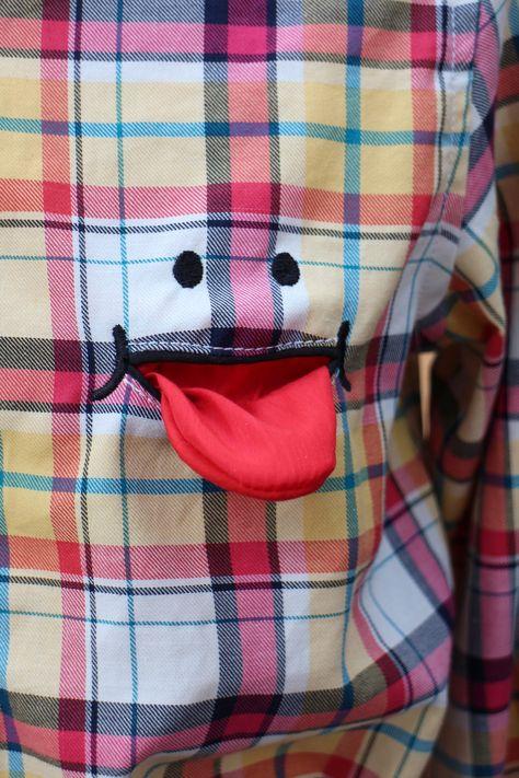Cheeky little jet pocket detail from brand Culture Medium, in Daikanyama, Tokyo