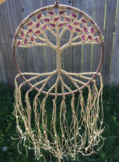 Tree of Life Large Macrame Wall Hanging Boho by Evergreenbohemian