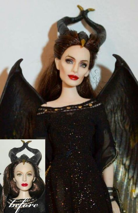 Beautiful Remake Of Angelina Jolie S Maleficent As A Barbie