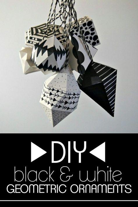 Décoration Géométrique En Noir Et Blanc Noël Bricolage