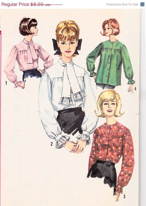 761b5c90c33 1960s Womens Vintage Sewing Pattern Misses Mad Men Button-Down ...