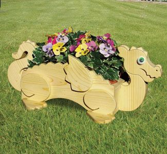 Wooden Animal Planters | Planter Woodworking Plans   Dragon Flower Pot Planter  Wood Plan | Planters | Pinterest | Wood Plans, Planters And Dragons