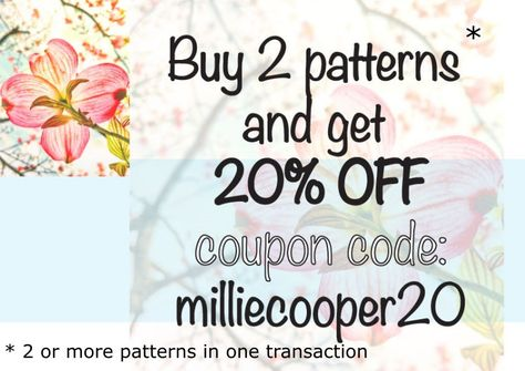 Cross Stitch Pattern Discount - 20% off when 2 or more patterns purchased in one transaction by MillieCooperPatterns on Etsy