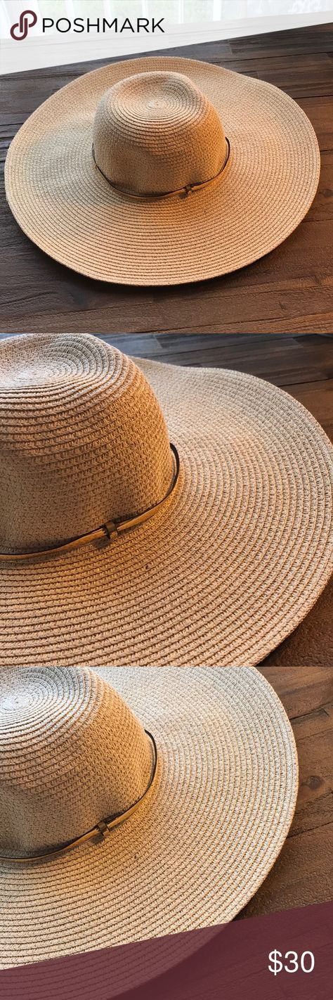 "Nordstrom Rack Large Brim Straw Sun Hat NWT Nordstrom Rack Large Brim Straw Sun  Hat NWT Features adjustable inside band and approximate 5""brim. 8ccce6eb31b"