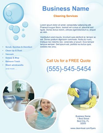 Jenny Cleaning Services Flyer cleaning business Pinterest - free business flyer templates for word