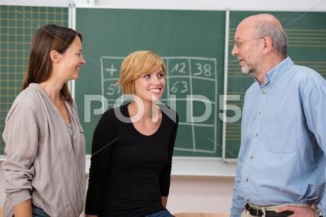 Professor In Class With Two University Students Stock Photos Ad University Cl Cla