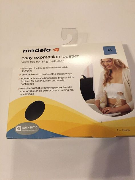 Medela Easy Expression Bustier New. Medium Hands-free pumping made easy Black