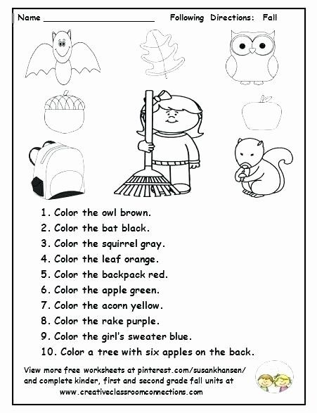 Follow Directions Worksheet Kindergarten Inspirational Asking And Giving Direction In 2020 Following Directions Activities Following Directions Kindergarten Worksheets