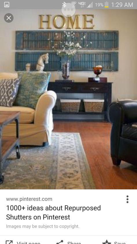 Horizontal Decorative Shutters Indoor Living Room Decor Tips Living Room Decor Traditional Wall Decor Living Room Rustic