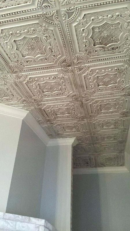 Paintable Wallpaper Over Ceiling Tiles