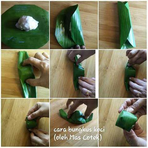 Cara Bungkus Kuih Koci Finger Food Catering Malaysian Dessert Food Wrap