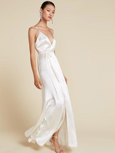 Ivory Silk Slip Dress Silk Dress Long Silk Slip Dress Dresses