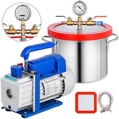 Ad Ebay Url 3 6cfm Vacuum Pump 1 5 Gallon Vacuum Chamber Refrigerant 1 Stage Hvac Tool In 2020 Vacuum Pump Hvac Tools Hvac