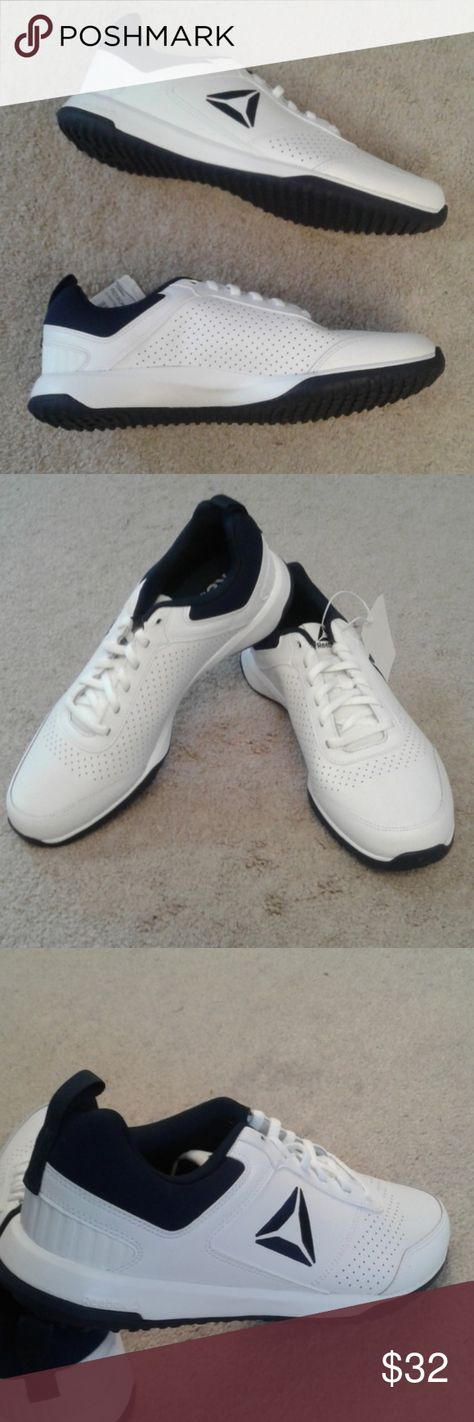 0c12fe214d5ff9 🤗NEW 🤗REEEBOK WHITE CXT TRAINING SNEAKERS Brand new dark blue and white  laced up training REEBOK Sneakers with white black rubber soles