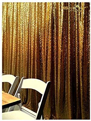 Amazon Com Gold Shimmer Sequin Fabric Photography Backdrop
