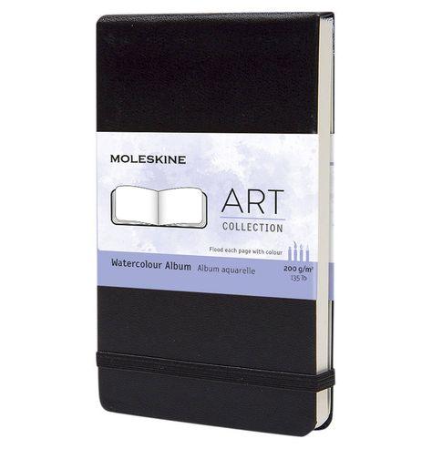 Aquarellbuch Fester Einband Din A6 200g Aquarellpapier Schwarz