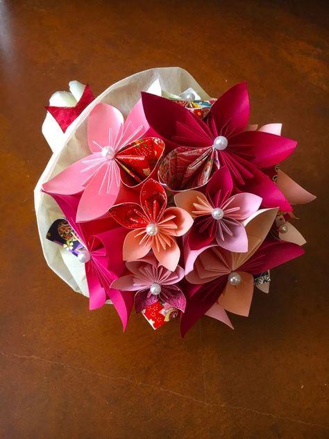 Mazzo Di Fiori Origami.Bouquet Origami Mazzo Di Fiori Di Carta Paper Bouquet Fiori Di