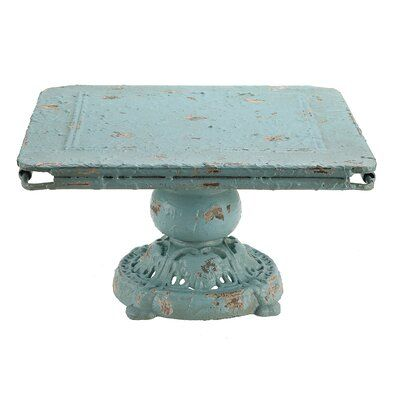 Ophelia Co Knopp Decorative Pedestal Color Blue Shabby Chic Cake Stand Shabby Chic Cakes Metal Decor