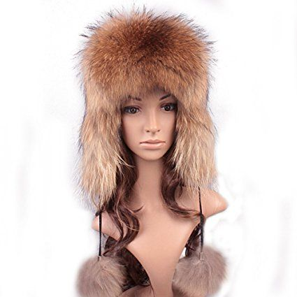 f64304d2ae7fe Roniky Women's Real Fox Fur Russian Trooper Ushanka Hat Winter Fur Hat with  Ear Flaps Review