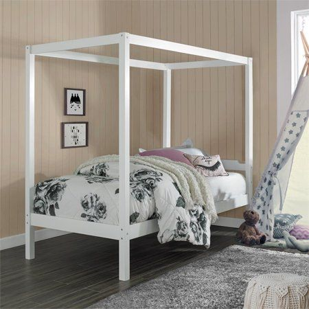 Home In 2020 Twin Canopy Bed Wood Canopy Bed Wood Canopy
