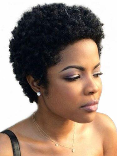 Perruque Courte Synthetique Perruque Afro Americaine Perruque Ebouriffee Bouclee Noire