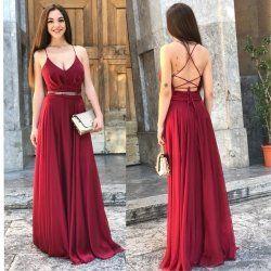 1e9002ee9c22 Abito passion - Vestito lungo rosso - Abito elegante | Abiti ...