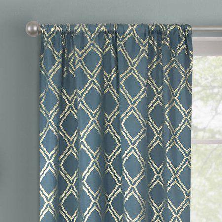 f6337e3fd07c90511a37774a9dcd7201 - Better Homes & Gardens Metallic Foil Trellis Curtain Panel