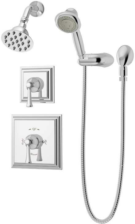 Symmons Canterbury Thermostatic Handheld And Fixed Shower Faucet