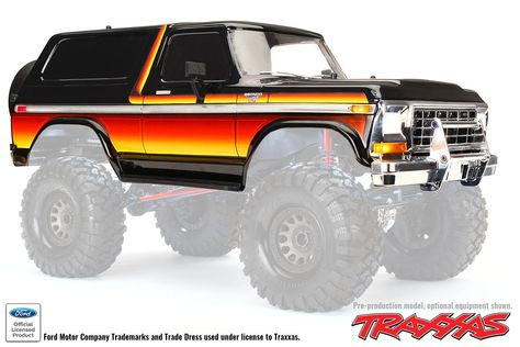 Traxxas 8010a Ford Bronco Sunset Painted Body For Trx 4