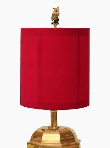 Diy Owl Lamp Finial The Makely Blog In 2020 Lampshade Kits Lamp Finial Owl Lamp
