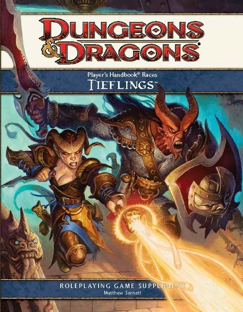Player S Handbook Races Tieflings 4e Book Cover And Interior