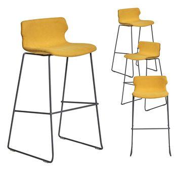 Chaise Haute Design Moutarde California 4 Lot De 4 Chaise Haute Design Tabouret De Bar Tabouret De Bar Design