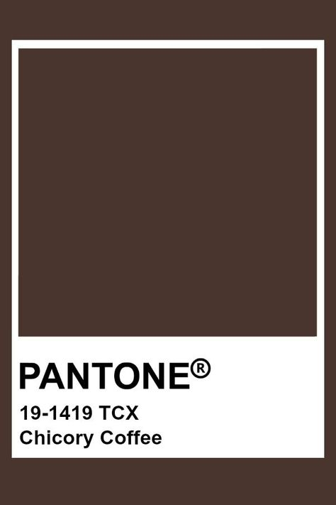 Chicory Pantone Coffee  #chicory #coffee #pantone