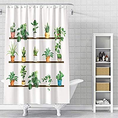 Desihom Green Plant Shower Curtain Botanical Fall Shower Curtain