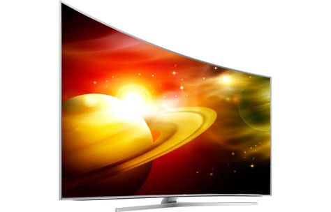"Samsung UN88JS9500 88"" Curved LED SUHD Panel 4K UHD Television TV UN88JS9500FXZA…"