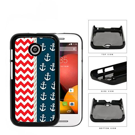 Red & White Chevron Pattern with Navy Anchor Pattern & Rope In Center Motorola (Moto E) Hard Snap on Plastic Cell Phone Case Cover Mobile King USA http://www.amazon.com/dp/B00Q7DSJEI/ref=cm_sw_r_pi_dp_MhAPub1DZ3VR1