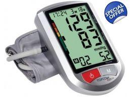 Tensiometru Topcom Bpm Arm 5500 Xld Detecteaza Aritmiile Afisaj Mare Prezinta Tensiune Sistolica Tensiune Diastolica Digital Alarm Clock Clock Alarm Clock