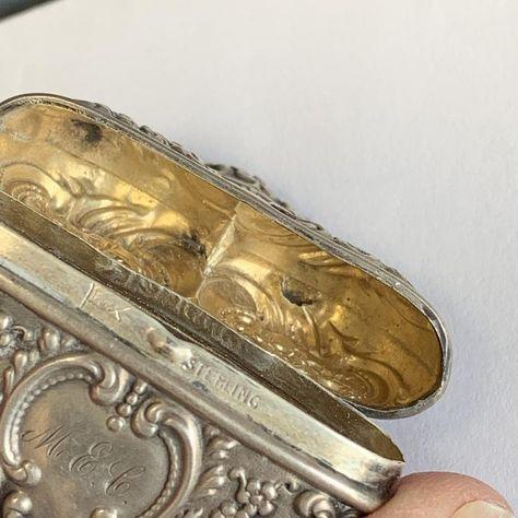 Antique Brass Vinaigrette Perfume
