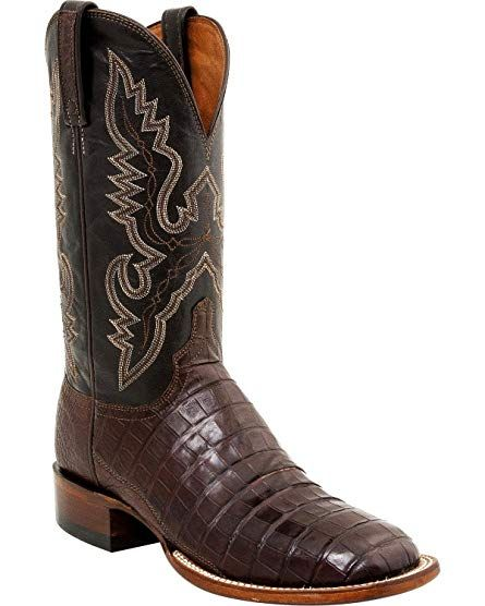 d0ef9065cb4 Lucchese Men's Handmade Caiman Tail Roper Boot Square Toe - Cl1009 ...