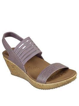 skechers sandals womens brown