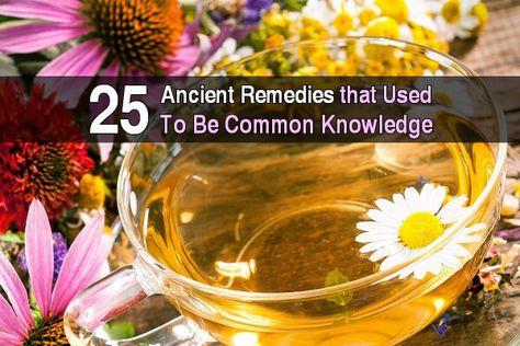 Home remedies and herbal cures are as ancient as mankind itself. Take a look at these simple home remedies that used to be common knowledge: