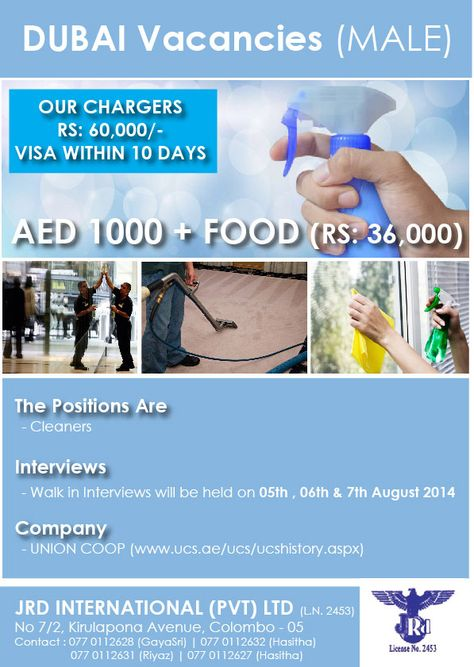 Vacancies In Dubai Jrd International Pvt Ltd Dubai International Hold On